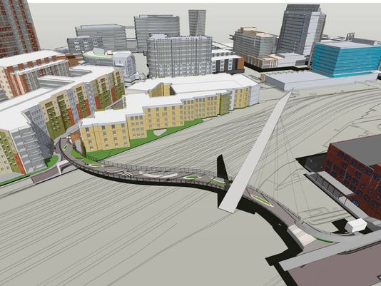 Gulch-SoBro pedestrian bridge cleared for construction