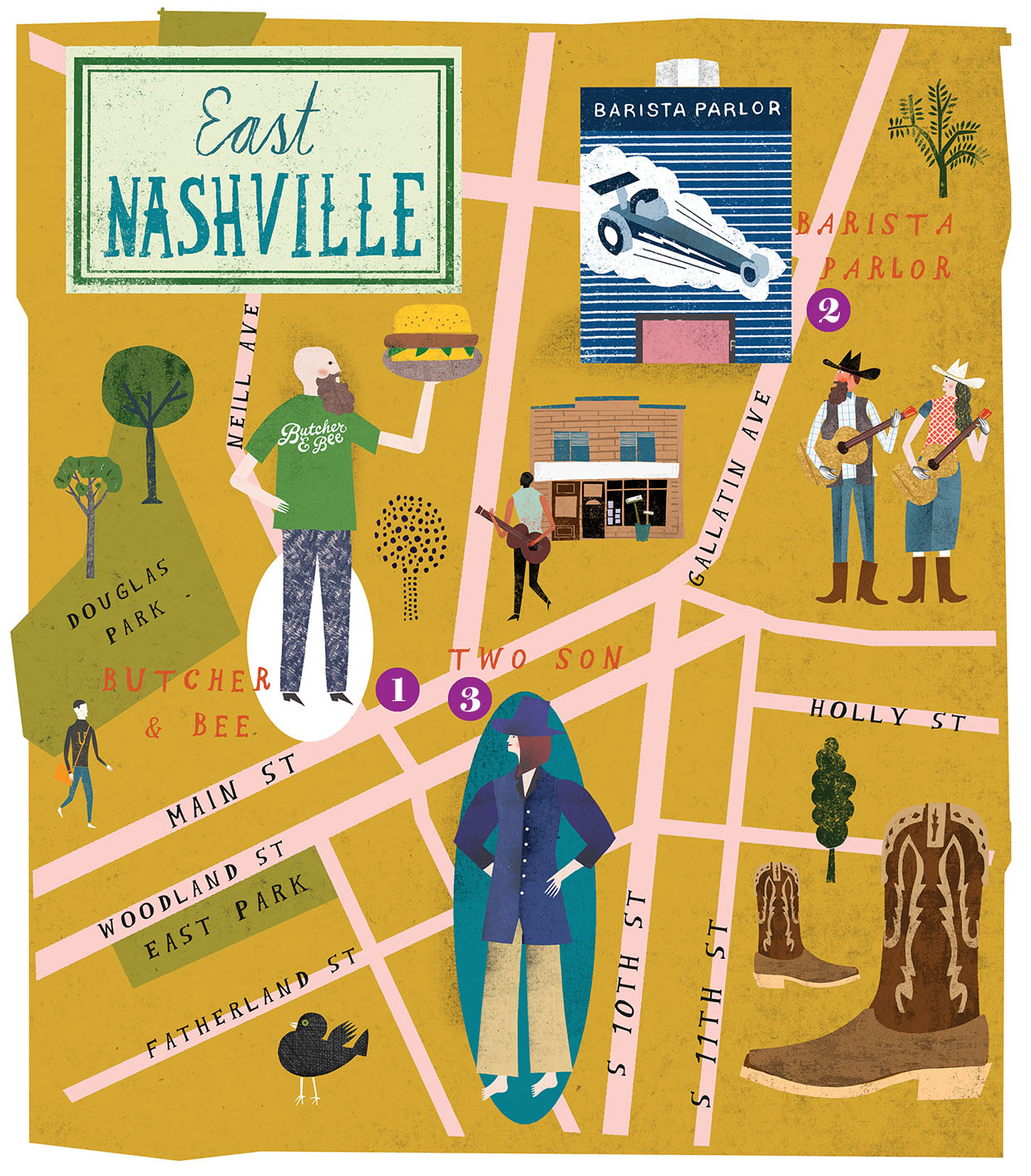 Music's Hottest Neighborhoods (And Where to Go When You're in Music City)